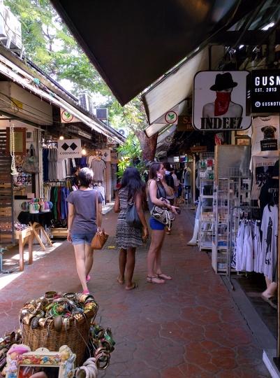 Tourists shopping