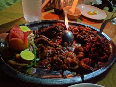 Seafood platter @Silver sands